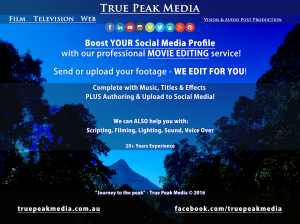 Let True Peak Media to EDIT YOUR VIDEOS FOR YOU!